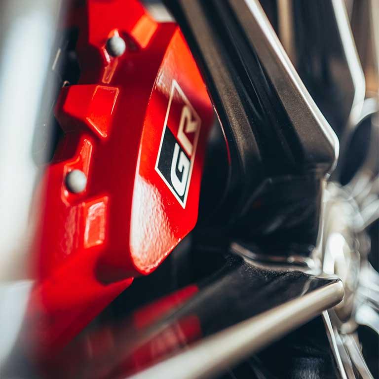 Toyota GR Yaris Bremsen Detail Räder